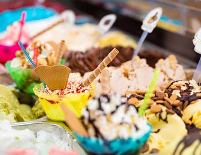 scelta di coppette di gelato Il Pescatore